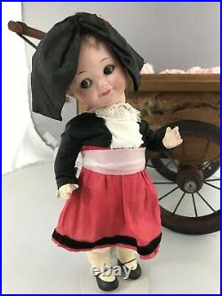 10 Antique German Bisque Head Googly Doll A M 323 French Travel Doll