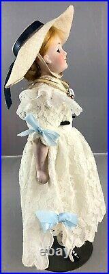 10 Antique German Bisque Shoulder Head Gibson Girl with Flapper Body Doll! 18085