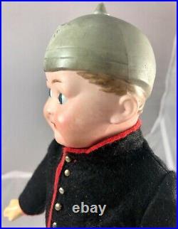 11 Antique German Bisque Head Elite Googly D-2 Austrian Soldier Doll! 18030
