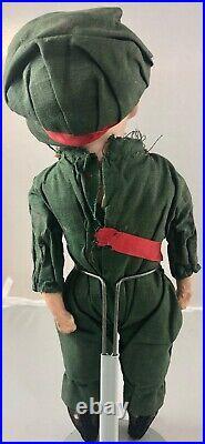 11 Antique German Bisque Shoulder Head Soldier Boy Doll! Heubach 6692 18017