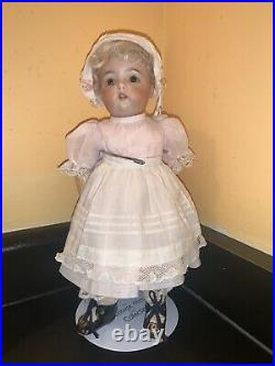 11 Simon And Halbig 1299 Toddler Bisque Head Doll In Adorable Outfit
