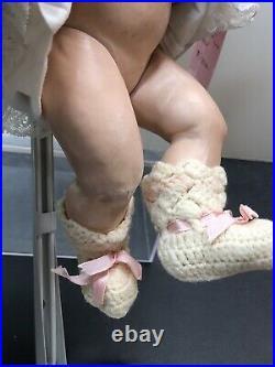 12 Antique Kestner Bisque Doll Germany JDK 7 1/2 Bald Head Baby O/C Mouth #SC5