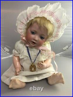 15 Antique German Bisque Head Kestner 245 Hilda Baby Doll! Beautiful! 18048