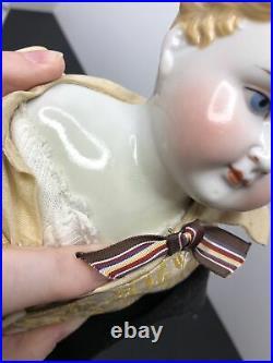 19.5 Antique Bisque German China Head ABG 1210 #7 Boy Man Molded Blonde Hair #A