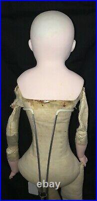 19 Antique Alt, Beck & Gottschalck German Bisque Shoulder Head Doll