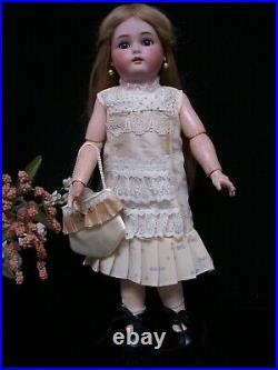 19 Antique German Bisque Head Doll Simon & Halbig KR Sleep Eyes Good