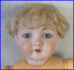 19 Antique German Bisque Head Kestner 143 Doll Original Jointed Wrist Body