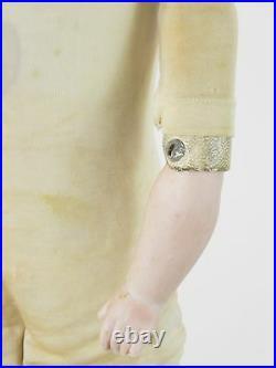 19thC Rare Cork Stuffed JDK Dep 10 154 Kestner Bisque Head Antique 23Doll