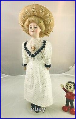20 Antique German Bisque Head Kestner 172 Gibson Girl! Gorgeous