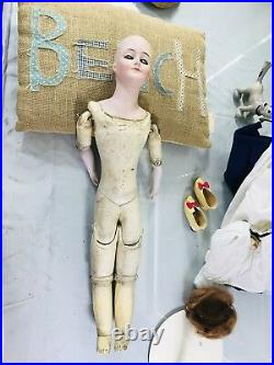 20 Antique German Bisque Shoulder Head 172.5 Kestner Gibson Girl Doll