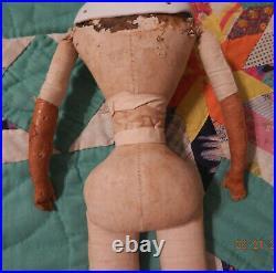 20 Antique untinted bisque parian German shoulder head fashion doll