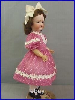 21 tall Adorable rare c1920 Morimura Bisque head doll on composition body