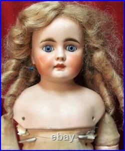 22 Antique German Doll Belton Bisque Solid Dome Shoulder Head TLC