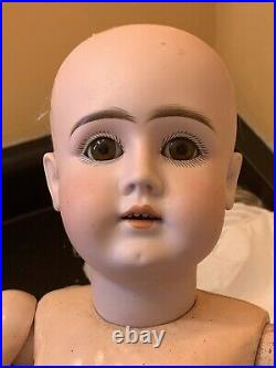 23 Gorgeous Long Faced Kestner Bisque Head Doll On Early 6 Ball Body