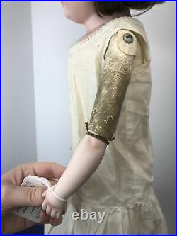 24 Antique Kestner 154 11 DEP German Doll Bisque Head Leather Body Replaced Arm