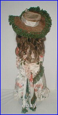 26 Germany Kestner 195 bisque head-fur brows-HH wig