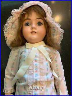 27Antique Bisque head Doll Walkure Germany