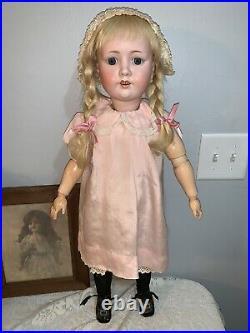 28 Antique Bisque Head, composition body German MOA Max Oscar Arnold Doll 200
