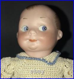 6 Antique German Bisque Head Googly Doll A M 320