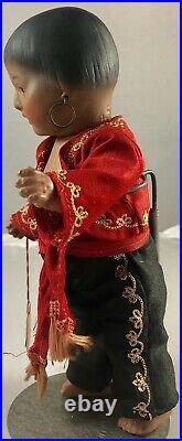 7.5 Antique German Bisque Head Gypsy Boy Doll! Adorable! Rare! 18021