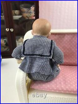 7 Antique German Bisque Head A M Character Baby Mold AM 500 Sailor Suit