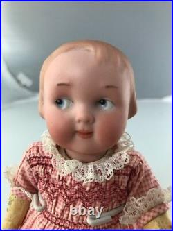 7 Antique German Bisque Head Googly Doll AM 210! Rare Intaglio Eyes