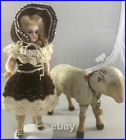 9 Antique French or German Bisque Head Belton Flapper Doll! Adorable! 18091