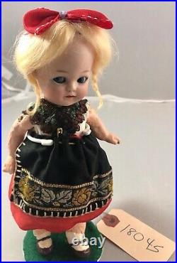 9 Antique German Bisque Head Heubach 10542 Googly Doll! Beautiful! Impish 18045