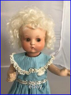 9 Antique German Painted Bisque Head Doll AM JUST ME! Composition Body