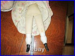 A 20 Pair of Antique Twin Bonnet Head German Parian Dolls