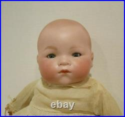 A. M. Germany 15 bisque head DREAM BABY celluloid hands orig. Clothes VGC