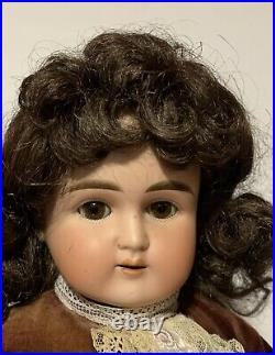 ABG Alt Beck Gottschalk Turned Shoulder Head Antique Bisque 24 Doll Leather Bod
