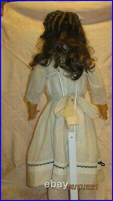 ANTIQUE 29 BISQUE HEAD DOLL With GREAT ANTIQUE DRESS HEINRICH HANDWERCK 109-15