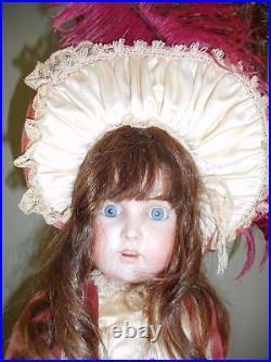 ANTIQUE 31 KESTNER 171 BISQUE HEAD DOLL With PERIOD STYLE CLOTHING & HAT