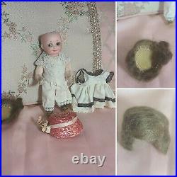 Adorable Googly 7 Antique German Bisque Head AM 253 Nobbi Kid Doll