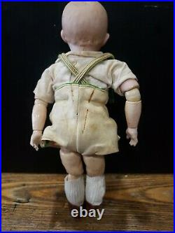 Antique 10 German Bisque Head Heubach Character Doll All Original