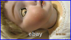 Antique 13 Kestner 143 Bisque Head Character Doll On Marked Compo Bjb As Is