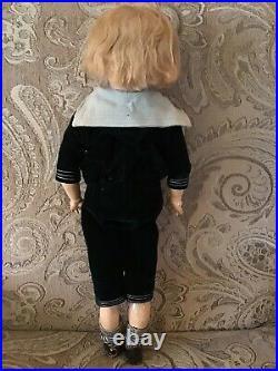 Antique 17 Kestner # 168 Head Mold Bisque Doll In Sailor Suit