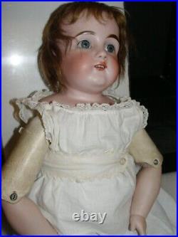 Antique 19 Kestner DEP154 Dolly-Face Bisque Shoulder Head Doll/lback hairline