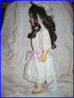 Antique 21 Kestner 171 Bisque Head Doll In Lovely Antique Dress
