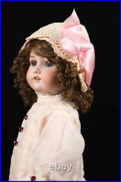 Antique 22 Simon Halbig CM Bergmann Doll German Bisque Socket Head Compo Body