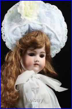 Antique 23 Simon Halbig Auburn Hair Doll German Bisque Socket Head Compo Body