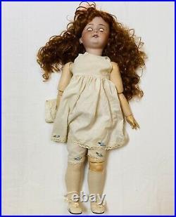 Antique 27 German Bisque Head Doll Heubach Koppelsdorf 250-8 Composition Body