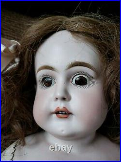 Antique 27 Kestner Doll Bisque Head Leather Body N Mark Pre-1892 20