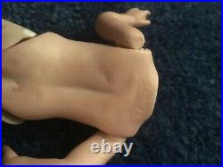 Antique 5 all bisque miniature doll for a swivel head doll