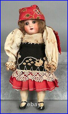 Antique 6 Heubach Kopplesdorf 250 20/0 Bisque Girl Doll Socket Head Germany
