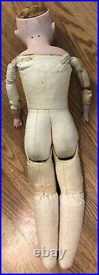 Antique Armand Marseille Germany 26 Doll Bisque Head Kid Body #370
