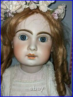 Antique Bisque Doll Jumeau 1890s 35 inches huge No Cracks in head