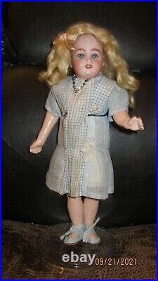 Antique Bisque Head Doll Globe Baby Carl Hartmann Compo Body 10 Tall