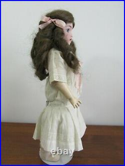 Antique Bisque Head Doll HANDWERCK 109 7 1/2 Germany 17.5 Antique Dress